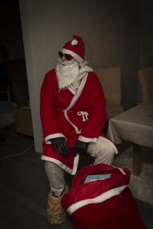 Santa with nice shoes..